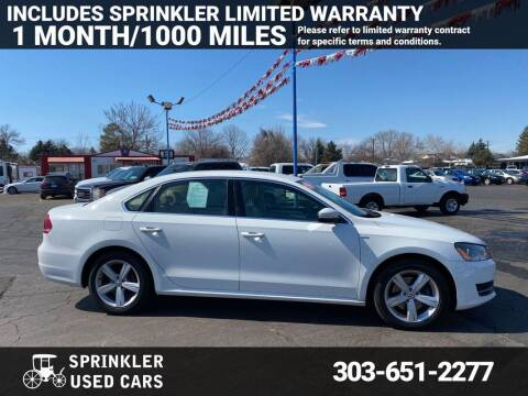2014 Volkswagen Passat for sale at Sprinkler Used Cars in Longmont CO
