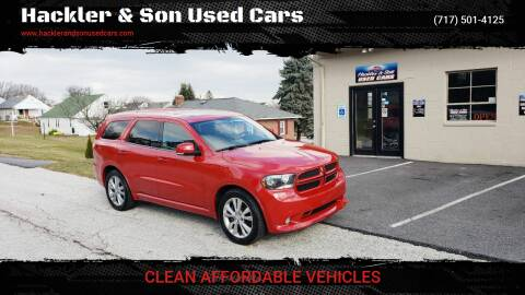 2012 Dodge Durango for sale at Hackler & Son Used Cars in Red Lion PA