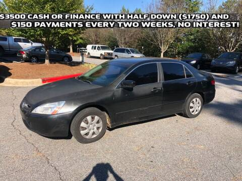 2003 Honda Accord for sale at MJ AUTO BROKER in Alpharetta GA