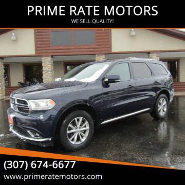 2014 Dodge Durango for sale at PRIME RATE MOTORS in Sheridan WY