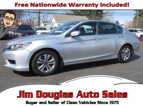 2015 Honda Accord for sale at Jim Douglas Auto Sales in Pontiac MI