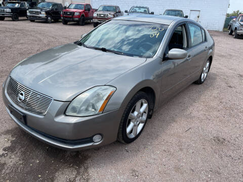 2004 Nissan Maxima for sale at PYRAMID MOTORS - Fountain Lot in Fountain CO