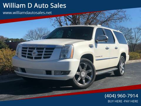2008 Cadillac Escalade ESV for sale at William D Auto Sales in Norcross GA