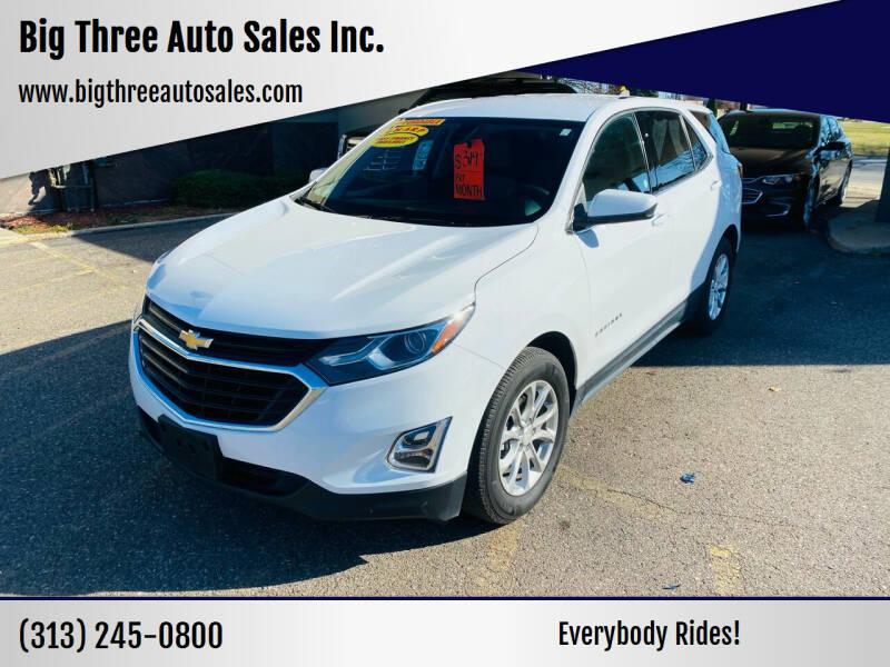 2019 Chevrolet Equinox for sale at Big Three Auto Sales Inc. in Detroit MI