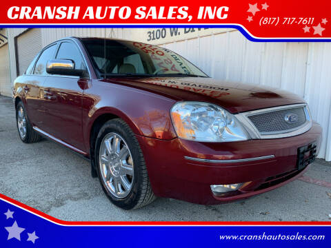 2007 Ford Five Hundred for sale at CRANSH AUTO SALES, INC in Arlington TX