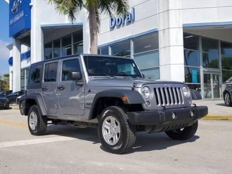 2018 Jeep Wrangler JK Unlimited for sale at DORAL HYUNDAI in Doral FL