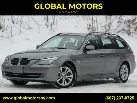 2009 BMW 5 Series for sale at GLOBAL MOTORS in Binghamton NY