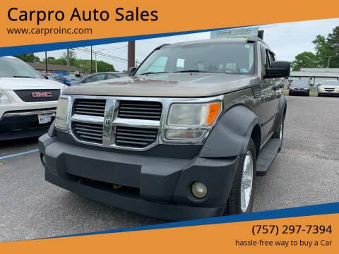 2007 Dodge Nitro for sale at Carpro Auto Sales in Chesapeake VA