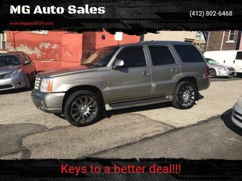 2002 Cadillac Escalade for sale at MG Auto Sales in Pittsburgh PA
