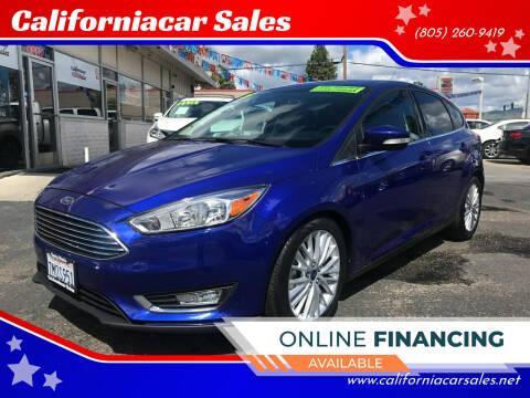 2015 Ford Focus for sale at Californiacar Sales in Santa Maria CA