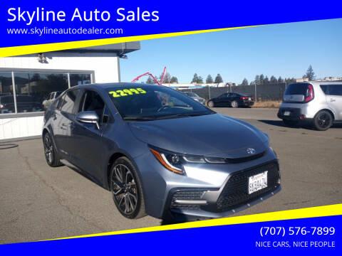 2020 Toyota Corolla for sale at Skyline Auto Sales in Santa Rosa CA