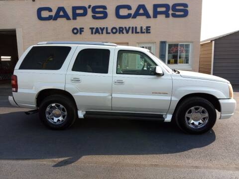 2004 Cadillac Escalade for sale at Caps Cars Of Taylorville in Taylorville IL