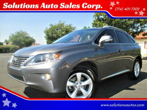 2013 Lexus RX 350 for sale at Solutions Auto Sales Corp. in Orange CA