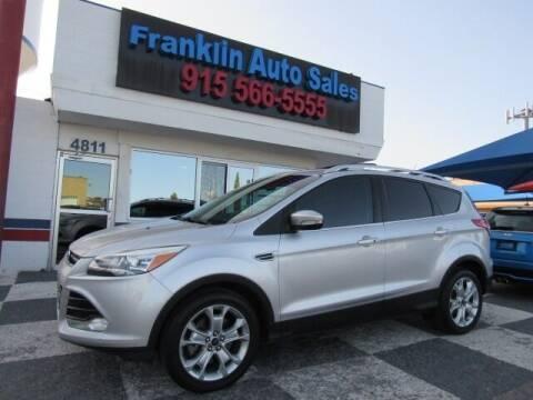 2016 Ford Escape for sale at Franklin Auto Sales in El Paso TX