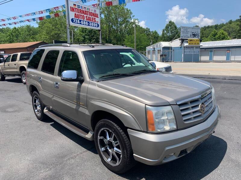 2003 Cadillac Escalade for sale at INTERNATIONAL AUTO SALES LLC in Latrobe PA