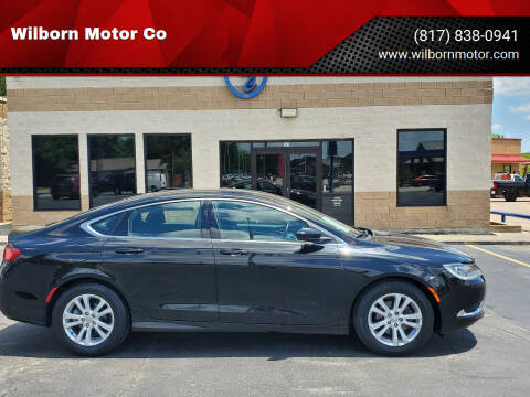 2015 Chrysler 200 for sale at Wilborn Motor Co in Fort Worth TX