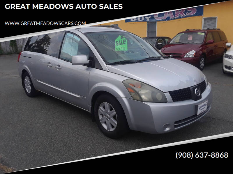 2004 Nissan Quest for sale at GREAT MEADOWS AUTO SALES in Great Meadows NJ