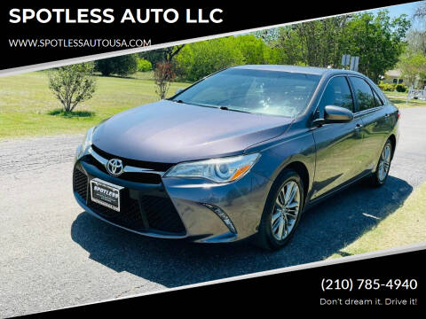 2017 Toyota Camry for sale at SPOTLESS AUTO LLC in San Antonio TX