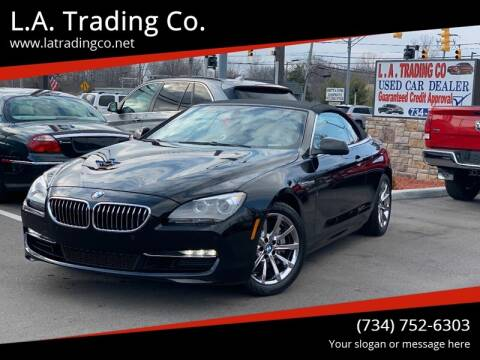 2014 BMW 6 Series for sale at L.A. Trading Co. in Woodhaven MI
