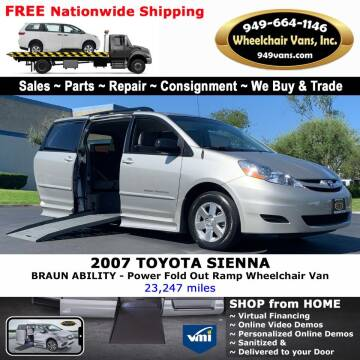 2007 Toyota Sienna for sale at Wheelchair Vans Inc - New and Used in Laguna Hills CA
