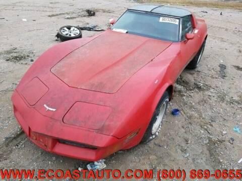 1980 Chevrolet Corvette for sale at East Coast Auto Source Inc. in Bedford VA