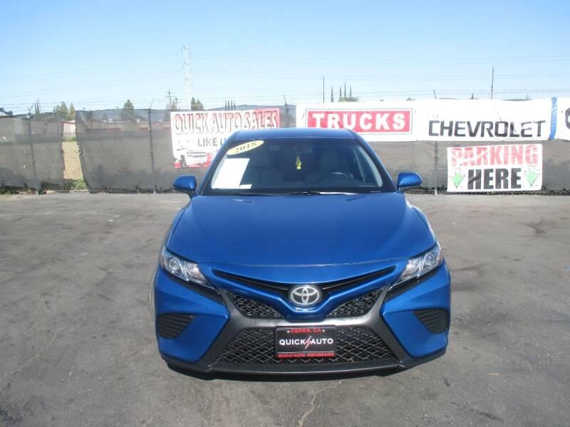 2018 Toyota Camry for sale at Quick Auto Sales in Modesto CA