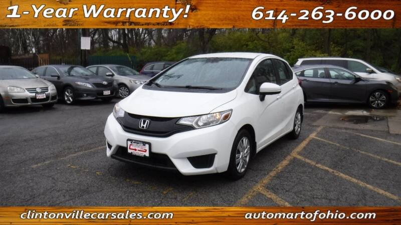 2015 Honda Fit for sale at Clintonville Car Sales - AutoMart of Ohio in Columbus OH