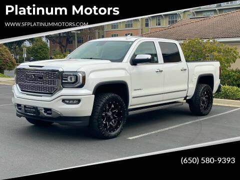 2017 GMC Sierra 1500 for sale at Platinum Motors in San Bruno CA