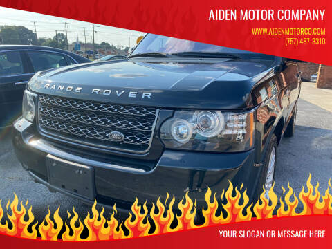 2012 Land Rover Range Rover for sale at Aiden Motor Company in Portsmouth VA