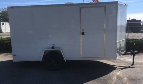 2021 NEW Deep South 6' x 12'  V Nose Ramp Door for sale at Sanders Motor Company in Goldsboro NC