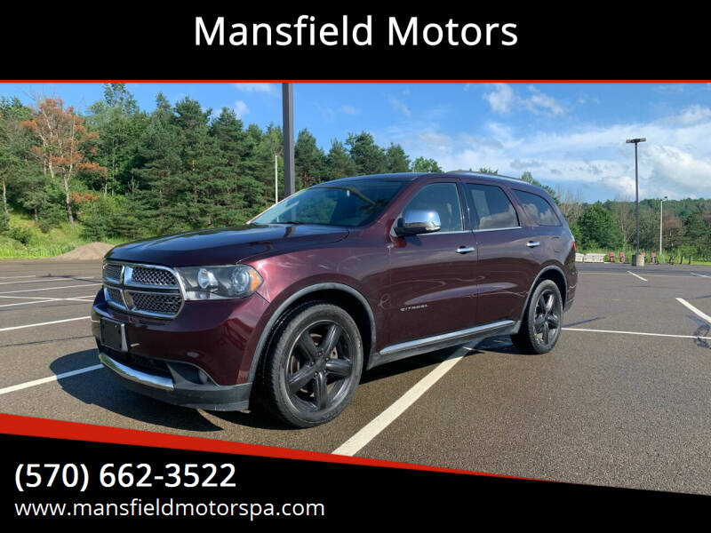2012 Dodge Durango for sale at Mansfield Motors in Mansfield PA