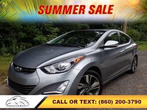 2015 Hyundai Elantra for sale at EAGLEVILLE MOTORS LLC in Storrs Mansfield CT