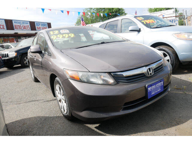 2012 Honda Civic for sale at MICHAEL ANTHONY AUTO SALES in Plainfield NJ