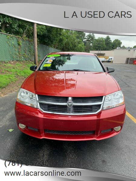 2009 Dodge Avenger for sale at L A Used Cars in Abington MA