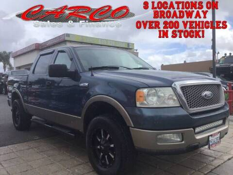 2004 Ford F-150 for sale at CARCO SALES & FINANCE in Chula Vista CA