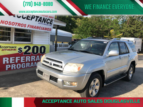 2004 Toyota 4Runner for sale at Acceptance Auto Sales Douglasville in Douglasville GA