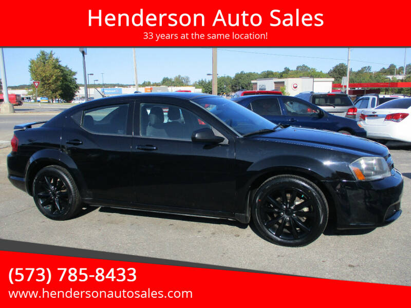 2014 Dodge Avenger for sale at Henderson Auto Sales in Poplar Bluff MO