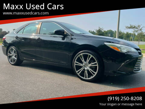 2015 Toyota Camry for sale at Maxx Used Cars in Pittsboro NC