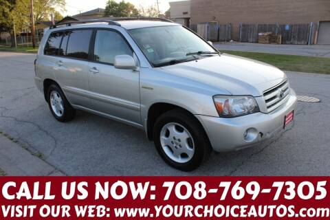 2005 Toyota Highlander for sale at Your Choice Autos in Posen IL
