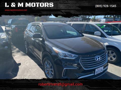2017 Hyundai Santa Fe for sale at L & M MOTORS in Santa Maria CA