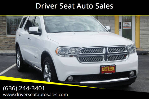 2013 Dodge Durango for sale at Driver Seat Auto Sales in St. Charles MO
