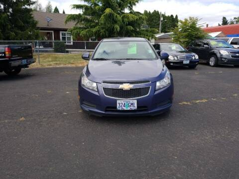 2013 Chevrolet Cruze for sale at ET AUTO II INC in Molalla OR