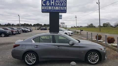 2018 Infiniti Q50 for sale at C & H AUTO SALES WITH RICARDO ZAMORA in Daleville AL
