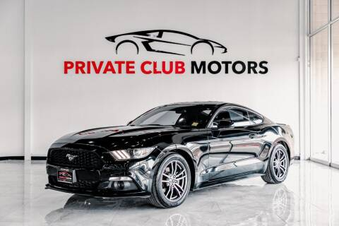 2017 Ford Mustang for sale at Private Club Motors in Houston TX