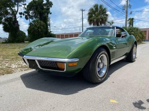 1972 Chevrolet Corvette for sale at American Classics Autotrader LLC in Pompano Beach FL