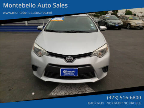 2015 Toyota Corolla for sale at Montebello Auto Sales in Montebello CA
