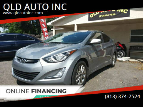 2016 Hyundai Elantra for sale at QLD AUTO INC in Tampa FL