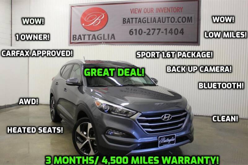 2016 Hyundai Tucson for sale at Battaglia Auto Sales in Plymouth Meeting PA