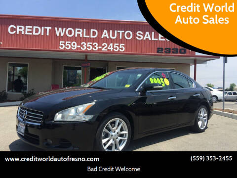 2009 Nissan Maxima for sale at Credit World Auto Sales in Fresno CA