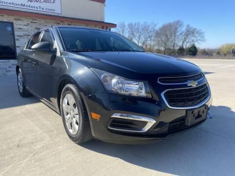 2015 Chevrolet Cruze for sale at Princeton Motors in Princeton TX